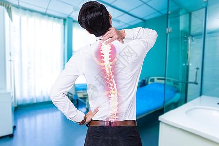 生病腰酸背痛图片