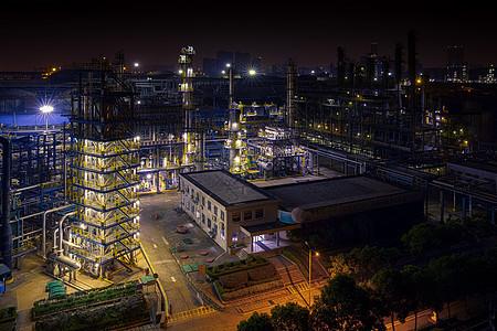 化工厂局部夜景图片