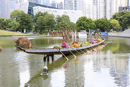 园区亲水景观图片