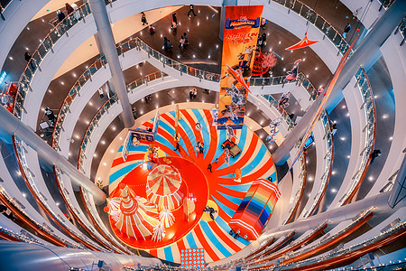 俯瞰节日购物中心图片