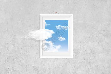 超现实蓝天白云图片