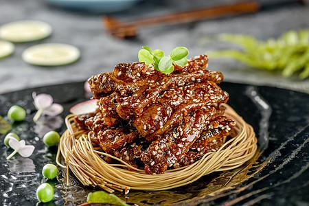 麻辣牛肉条图片