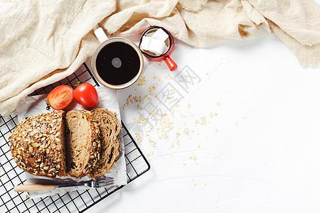 美味营养早餐面包图片