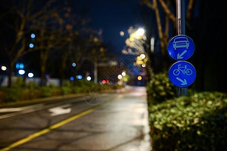晚上的道路马路素材 图片