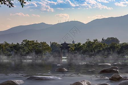 仙境的颐和园昆明湖图片