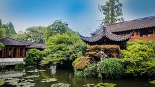 江南园林庭院图片