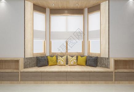 现代简洁风飘窗家居陈列室内设计效果图图片