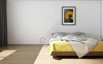 现代极简风卧室陈列室内设计效果图图片