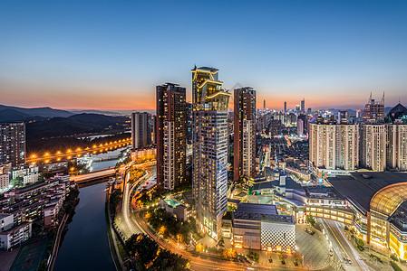 深圳罗湖城市建筑夜景图片