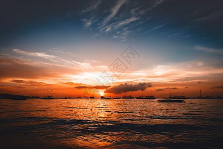 夕阳余晖图片