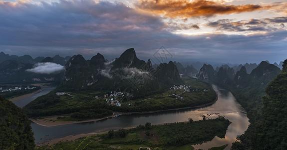 相公山的晨曦图片