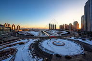 雪后星海广场图片