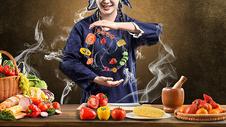 食材背景创意图图片