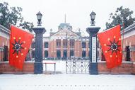 大雪中的武汉辛亥革命纪念馆图片
