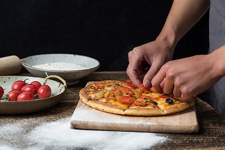 制作披萨图片