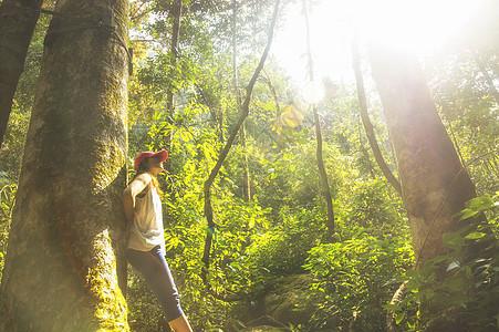 森林里的美女图片