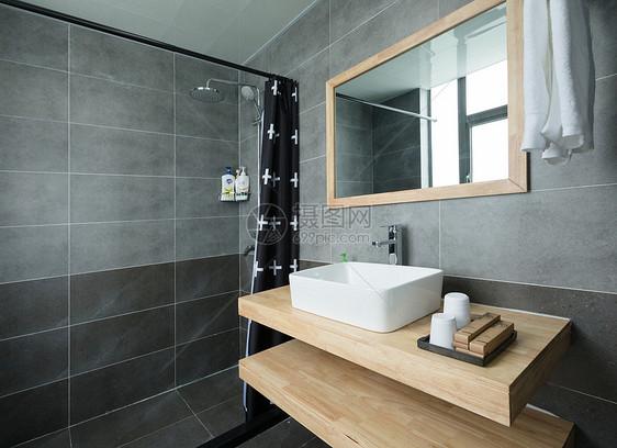 简约简单民宿洗手间卫生间图片