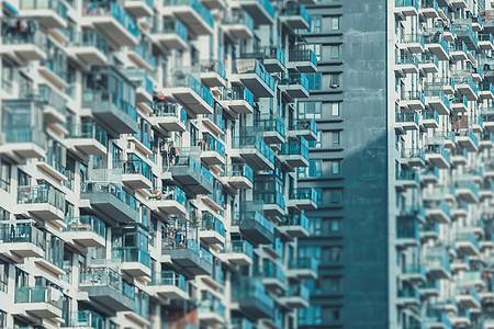 密集的城市建筑图片
