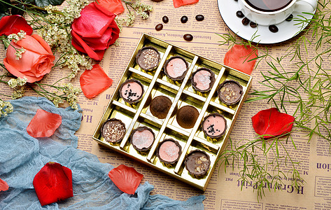 巧克力浪漫情人节图片