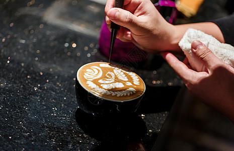 咖啡拉花工艺雕花图片