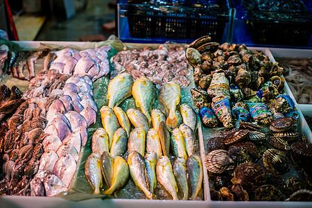 海鲜摊图片