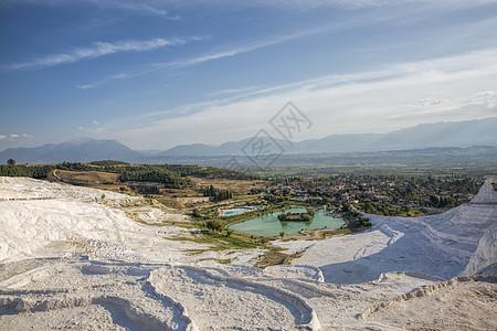 土耳其棉花堡风光图片