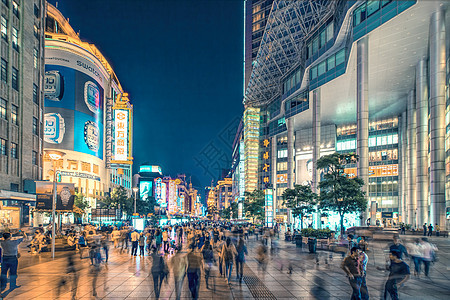 上海南京路之夜图片