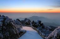 安徽天柱山雪后晨曦图片