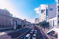 日本冲绳城市高架道路图片