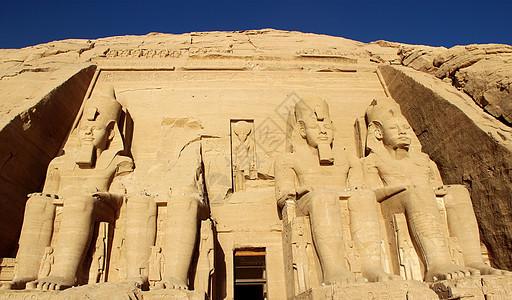 埃及的阿布辛贝神庙图片