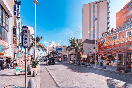 日本冲绳商业街图片