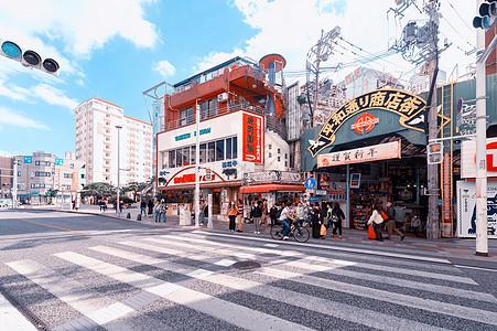 日本冲绳 商业街图片