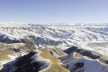 新疆特克斯雪山冬季风光图片