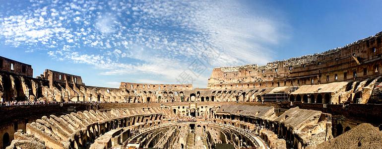 古罗马斗兽场全景图图片