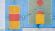 香港彩虹村体育运动场俯拍图片