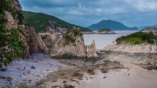 象山花岙岛海上石林图片