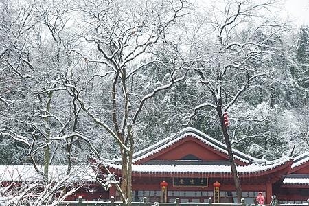 雪中的寺庙图片