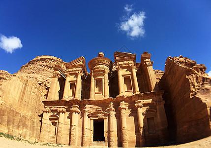 约旦佩特拉古城修道院图片