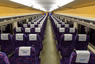 高铁车厢座位图片