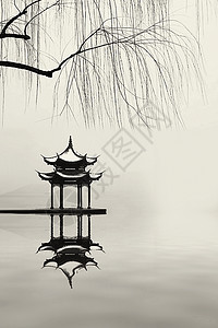美丽的江南古亭图片