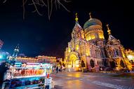 夜幕下的圣索菲亚大教堂图片