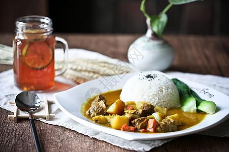 咖喱牛肉午饭工作餐图片