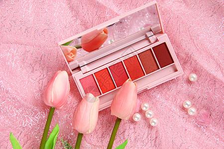 粉色时尚美妆背景图片