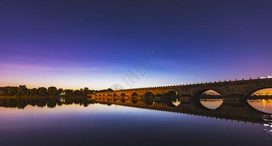 卢沟桥的星空图片
