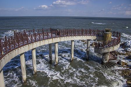 养马岛螺旋栈桥图片
