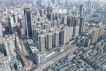 武汉城市建筑楼群图片