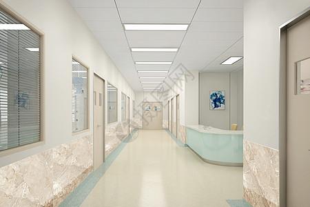 后现代医院走廊效果图图片