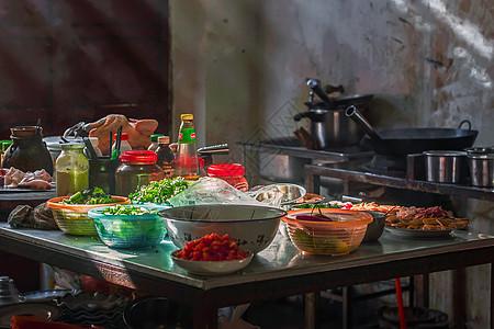 过节时的农家厨房图片