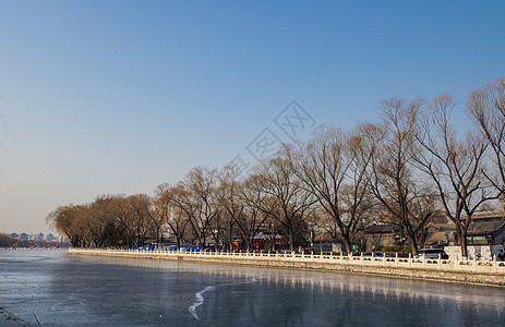 北京后海冰面图片