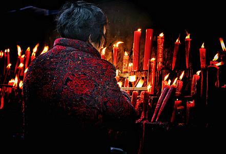 春节新年祈福蜡烛图片